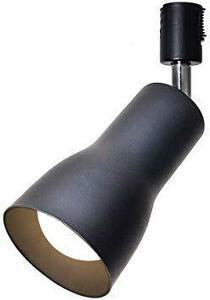 黒 + 電球色 黒 + 電球色 Tengyuan ダクトレール用スポットライト E26口金 ライティングバー用 LED電球 60