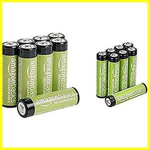 ベーシック 充電池 充電式ニッケル水素電池 単4形8個セット (最小容量750mAh 約1000回使用可能) & 充電池 充電式ニッケル水素電池