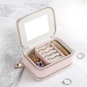 アクセサリーケース 214yxk ピンク 収納ボックス ジュエリーボックス 指輪 ネックレス ピアス収納 小物 ファション 人気