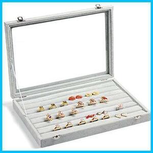 新品SPIEA リングケース 指輪 ベルベット調 アクセサリーボックス ジュエリーボックス ディスプレイ収納ケース LW8J