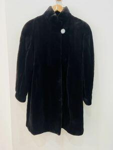 ◆1円スタート◆サガミンクSAGA MINK 高級毛皮 ロングコート VIOLETA ブラック Fサイズ◆