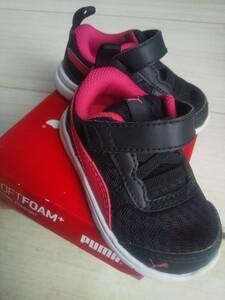 PUMA プーマ 軽量ベビースニーカー ベルクロ インファント 男女兼用 13cm ソフトフォーム 美品