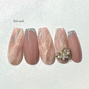 ネイルチップ 蝶 ガラスフレンチ フレンチ 量産型 成人式 前撮り 付け爪