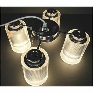 ■AE■ (展示品) 美品 コイズミ LED シャンデリア BA12734P ~4.5畳 スイッチ付 ダイニング 送料無料