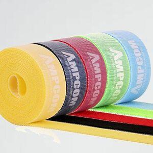 新品 目玉 結束バンドマジックバンド AMPCOM N-X4 結束テ-プ 自由にカット 線整理 ケ-ブル/コ-ド等収納 幅2cm 長さ200cm 5色