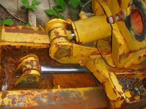 A【棚SS26-2820有】小松WA200-1用除雪油圧排土板