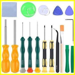 ANZEO ゲーム機 ツールキット (Y1.5ドライバー付き) 各種ゲーム機 修理工具 NS修理ツールセット ドライバー 修理工具 分解ツール