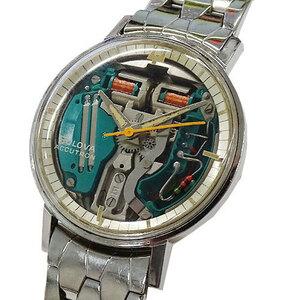1円~ ブローバ 時計 M6 アキュトロン 音叉 クオーツ スケルトン メンズ(v0064826400)