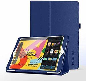ネイビー BIGKON iPad 10.2 ケース 手帳型 第7世代 第8世代 2020/2019モデル専用 耐衝撃 傷防止 耐