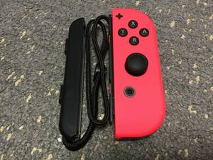 (中古)Nintendo switch ニンテンドースイッチ Joy-Con ジョイコン (R) ネオンレッド ストラップ付き (送料無料)