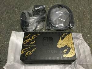 (新品・未使用)ニンテンドースイッチ モンスターハンターライズ 純正ドック ACアダプター HDMIケーブル セット (送料無料)