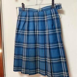 制服 私立女子校 スカートのみ 青チェック
