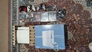 PLAYSTATION 3(40GB) セラミック・ホワイト  ソフト5本セット 送料無料! その他多数出品!