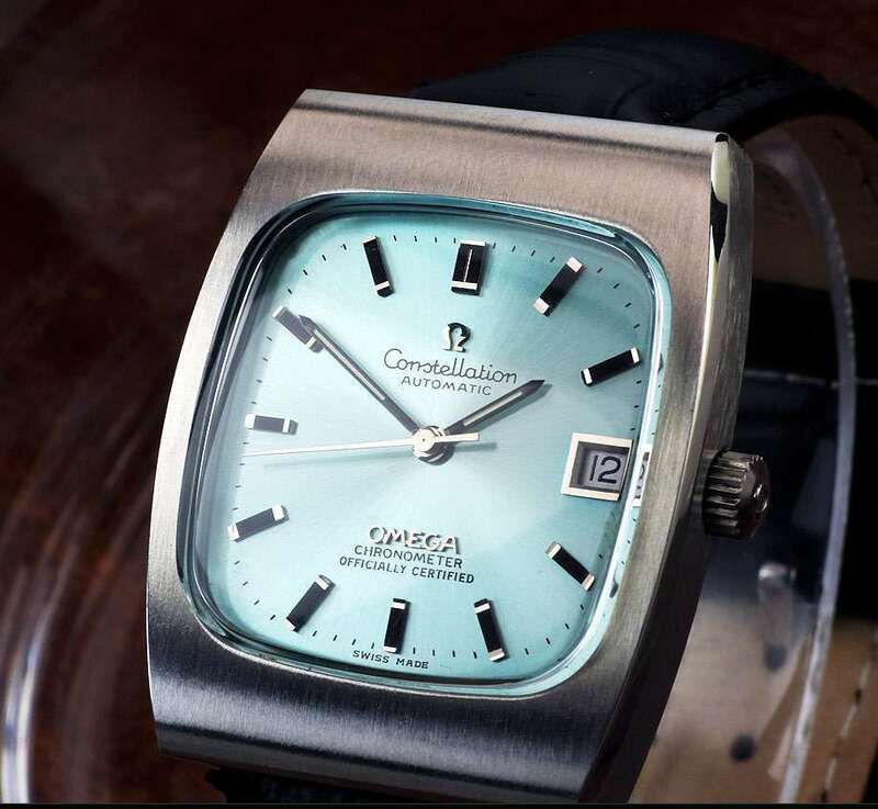 OMEGA コンステレーション?クロノメーター Steel , Sky Blue Dial Automatic ( 美品、OH済み ) / 33mm