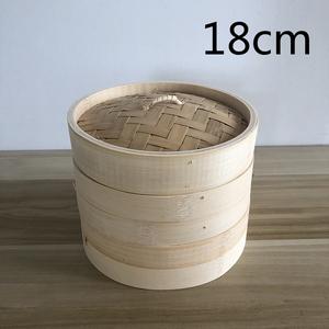 蒸籠 せいろ 二段蓋付 家庭用 業務用 中華蒸し器 竹製 料理器具 本格18cm