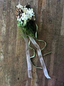 ハンギング ブーケ【ナチュラル系 グリーンハンギング】贈り物 ギフト 花束 プレゼント 造花 雑貨 かわいい インテリア おしゃ