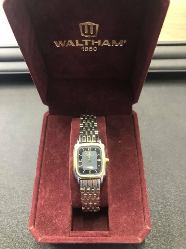 【2020】 WALTHAM ウォルサム 2716030 腕時計 レディース クオーツ 不動 ケース付 ジャンク