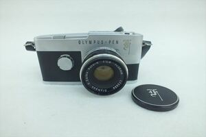☆ OLYMPUS オリンパス PEN F フィルム一眼レフカメラ レンズ:F.ZUIKO AUTO S 1.8 38mm 現状品 中古 211007T3195