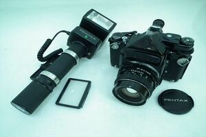 ☆ PENTAX ペンタックス 6×7 中判カメラ smc PENTAX-6×7 2.8 90mm 中古 現状品 211007G2514