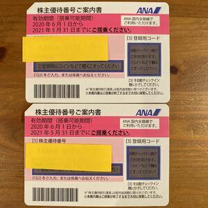 ANA 株主優待券 2021.11.30 延長 全日空 ペア