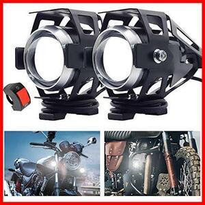 【送料無料-特価】 Hi/Lo/ストロボ 3モード機能切替 プロジェクター ヘッドライト フォグランプ バイク補助灯 オートバイ G0907 CREE製