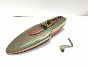 ◆昭和レトロ 大型 SEA HAWK シーホーク ブリキ ボート おもちゃ アンティーク 元箱付!◆マニア コレクション 蔵出し 初出し