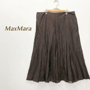 ●イタリア製*マックスマーラ MaxMara*コットンシルク混 フレアスカート*48