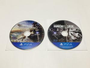 PS4 ゴーストリコン ワイルドランズ/レインボーシックス シージ (ディスク単品)