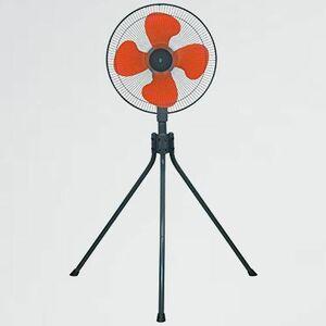 新品 未使用 扇風機 [山善] 8-HP YKS-458 [メ-カ-1年] 45cm 工業扇 スタンド式 押しボタンスイッチ 風量3段階調節 オレンジ