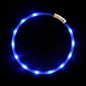 好評 新品 LED LOKIPA Q-GK ラ-ジ (ブル-) 光る 首輪 ペット 犬用 ライト 柔軟 USB 再充電 夜間 安全性 散歩 防水 サイズ調整可能