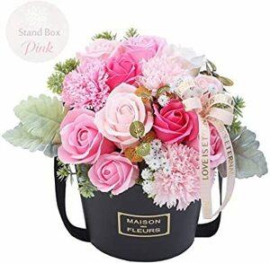 桃の色 Medium 母の日 ソープフラワー 造花 枯れない花 石鹸花束 桜 リース 壁掛け 贈り物 ギフト 敬老の日 結婚記念