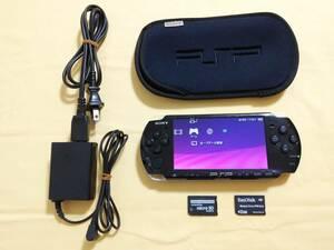 ソニー PSP-3000 ブラック 充電器 メモリースティック バッテリー ケースのセット