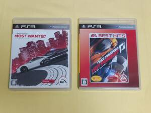 PS3用ソフト ニード・フォー・スピード ホット・パースート モスト・ウォンテッド 2本セット NEED FOR SPEED HOT PURSUIT MOST WANTED