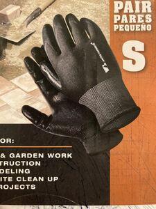 【匿名配送】作業用ニトリル手袋1組 Sサイズ(日本でいうMサイズ) 防寒手袋 ブラック アウトドアスポーツ