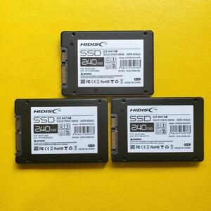 新品未使用 HIDISC SSD 240GB 3枚セット