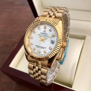 即決!送料無料*大特価♪人気デザイン メンズ腕時計・シルバー×ゴールド