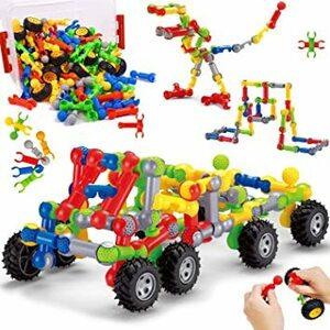 UQTOO ブロック おもちゃ 約170ピース 子供 DIY 知育玩具 セット男の子 女の子 誕生日のプレゼント はめ込み 組