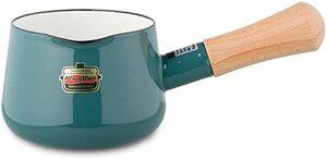 スモークブルー 富士ホーロー 片手鍋 ミルクパン ソリッド 12cm スモークブルー SD-12M・SB