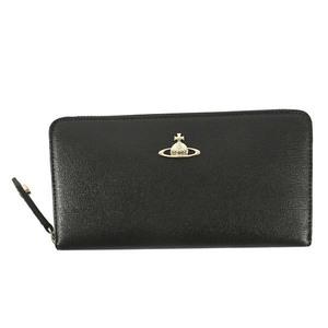 [Vivienne Westwood ヴィヴィアンウエストウッド] 財布 長財布 51050001 SAFFIANO ブラック 正規品新品
