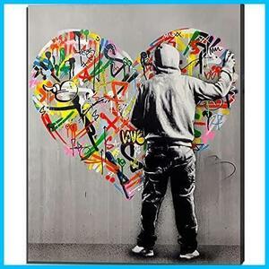最高§★サイズ名:30x40cm_色名:SL027★ Banksy LOVE バンクシー STREET