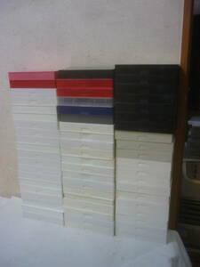 空VHSケースまとめ【色・形不揃い 空VHSケースのみ 60個まとめ売り】中古