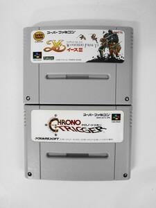 SFC21-064 任天堂 スーパーファミコン SFC イース 3 ワンダラーズ フロム クロノトリガー セット レトロ ゲーム ソフト