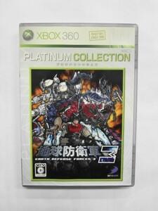 XB21-010 マイクロソフト XBOX 360 地球防衛軍3 プラチナコレクション レトロ ゲーム ソフト