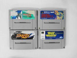SFC21-078 任天堂 スーパーファミコン SFC 機動戦士ガンダムF91 スーパースコープ6 スターフォックス インベーダー セット ゲーム 使用感