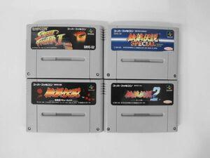 SFC21-082 任天堂 スーパーファミコン SFC 餓狼伝説 1 2 スペシャル ストリートファイター2 セット レトロ ゲーム 使用感あり