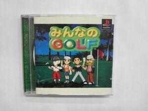 PS21-075 ソニー sony プレイステーション PS 1 みんなのGOLF 1 2 セット レトロ ゲーム ソフト 使用感あり
