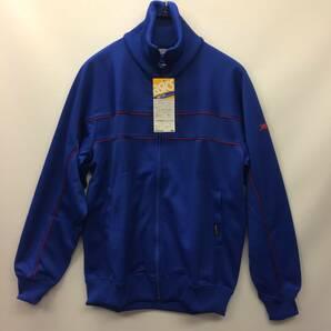 デッドストック 80s ASICS アシックス トラックジャケット ブルー ジャージ Oサイズ ゴールドタイガー