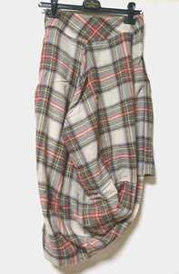 Vivienne Westwood ヴィヴィアンウエストウッド ANGLOMANIA アングロマニア エイトスカート 36 チェック柄スカート ダービー