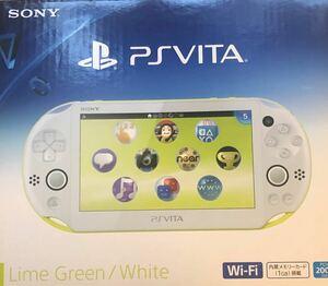 PlayStation Vita (PCH-2000シリーズ) Wi-Fiモデル ライムグリーン 美品