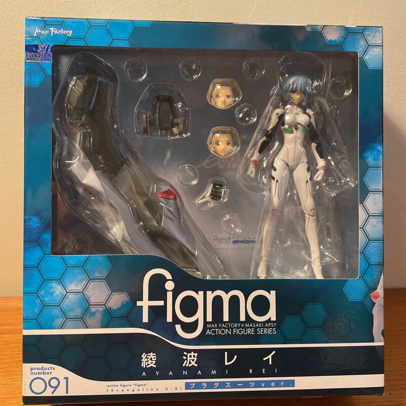 開封済 figma 091 綾波レイ プラグスーツver. 新世紀エヴァンゲリオン Evangelion 2.0